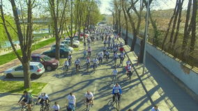Official start of the bike season in Plovdiv, Bulgaria stock video