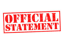 OFFICIAL STATEMENT Stock Photos