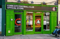 Official store of Cork city football club in Cork, Ireland Stock Image