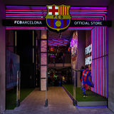 Official store of football club Barcelona Royalty Free Stock Photo