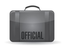 Official suitcase luggage illustration design Stock Photo
