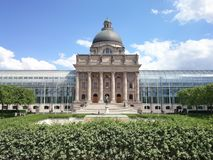 Official Sunny Day. Sunny Cloudy English Garden Munich Royalty Free Stock Image