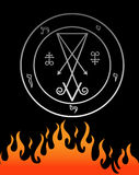 The official symbol of Lucifer. For the magician Stock Photography