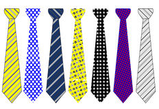 Official tie collection. Colorful official tie set vectors stock illustration