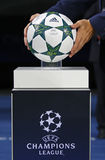 Official UEFA Champions League 2016/17 ball Royalty Free Stock Photo