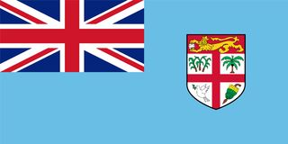 Official vector flag of Fiji Stock Photography