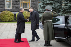 Official visit of the President of Latvia Raimonds Vejonis to Uk Royalty Free Stock Photography