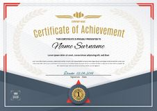 Official white certificate with dark triangle design elements. Business clean modern design Royalty Free Stock Photo