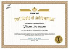 Official white certificate of a4 format with beige border, Official simple blank. Official white certificate of a4 format with beige border, Simple blank Royalty Free Stock Images