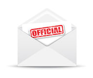 Official white closed envelope Royalty Free Stock Image