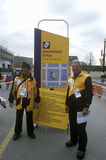 Official workers patrolling during 2002 Winter Olympics, Salt Lake City, UT Stock Photography