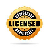 Officially licensed gold seal. Officially licensed gold vector seal Stock Photos