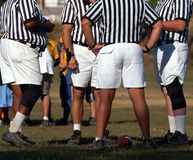 Officials gather. The officials gather in the field Royalty Free Stock Photos