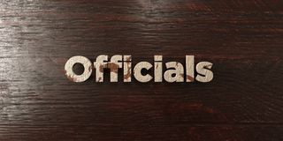Officials - grungy wooden headline on Maple  - 3D rendered royalty free stock image Stock Photo
