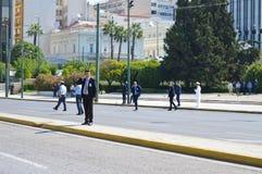 Officieel bezoek van Bulgaarse Voorzitter in Athene, Griekenland op 23 Juni, 2017 ATHENE, GRIEKENLAND - JUNI 23: Van Stock Foto's