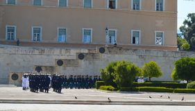 Officieel bezoek van Bulgaarse Voorzitter in Athene, Griekenland op 23 Juni, 2017 ATHENE, GRIEKENLAND - JUNI 23: Van Stock Fotografie