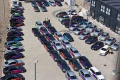 Officieel Olympisch BMW van Londen 2012 5 reeksen. Stock Afbeeldingen