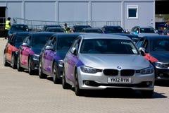 Officieel Olympisch BMW van Londen 2012 5 reeksen. Royalty-vrije Stock Foto