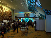 Officiell öppningscermoni Ecolighttech asia 2014 Arkivfoton