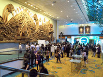 Officiell öppningscermoni Ecolighttech asia 2014 Royaltyfri Foto