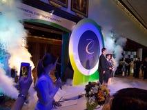 Officiell öppningscermoni Ecolighttech asia 2014 Arkivbild