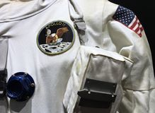Officiell astronautApollo 11 spacesuit Arkivfoto