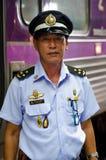Officiell eskortfartyg av järnvägen av Thailand royaltyfria bilder