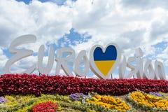 Officiell logo av striden för Eurovision sång 2017 i Kyiv Royaltyfri Bild