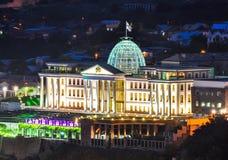 Officiell uppehåll av presidenten av Georgia i Tbilisi arkivfoton