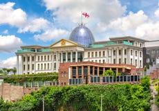 Officiell uppehåll av presidenten av Georgia i Tbilisi royaltyfri bild