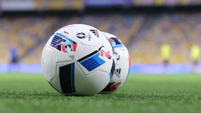 Officiella matchballs av UEFA-EUROET 2016 (Adidas Beau Jeu) stock video