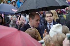 Officiellt besök av hertigen av Cambridge i Finland Fotografering för Bildbyråer