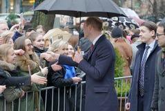 Officiellt besök av hertigen av Cambridge i Finland Arkivfoton
