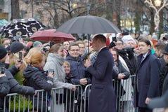 Officiellt besök av hertigen av Cambridge i Finland Royaltyfri Fotografi