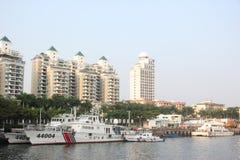 Officiellt skepp för den marin- polisen i SHENZHEN KINA AISA Fotografering för Bildbyråer