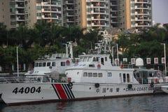 Officiellt skepp för den marin- polisen i SHENZHEN KINA AISA Arkivfoto