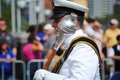 Officier australien de marine au défilé de jour de l'Australie Images libres de droits