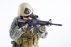 Officier d'équipe de SWAT Photos libres de droits