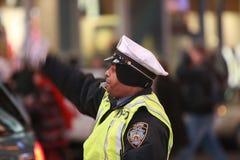 Officier de circulation de NYPD Photo stock