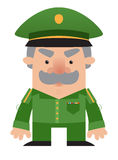Officier de soldat de dessin animé illustration stock