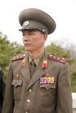 Officier militaire coréen du nord Photo libre de droits