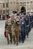 Officiers de l'armée, de l'Armée de l'Air et de la marine Images libres de droits