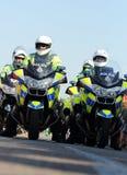 Officiers de moto de police Photos libres de droits