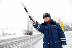 Officiers de patrouille de route en service images stock