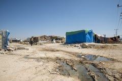 officieus vluchtelingskamp in Reyhanli Stock Afbeeldingen