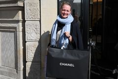 OFFICIL OPENING OF CHANEL BOUTIUE IN COPENHAGEN. Copenhagen/Denmark 18 April 2018_French chain Chanel opens its first shop ever in Copenhagen first consumer wih royalty free stock photos