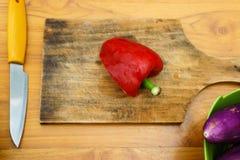 Officina culinaria Insalata di verdure fotografia stock libera da diritti