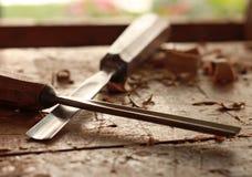 Officina d'annata di falegnameria di carpenteria fotografia stock
