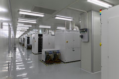 Officina di produzione di fotoelettricità Immagine Stock