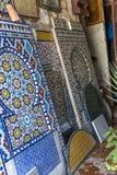 Officina marocchina delle mattonelle fotografia stock libera da diritti